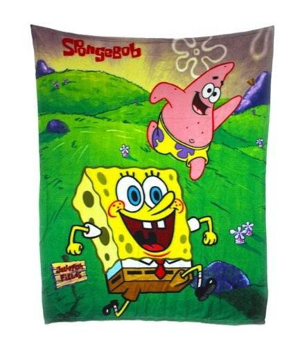 SpongeBob Fleece Decke [grün, 120x140 cm]