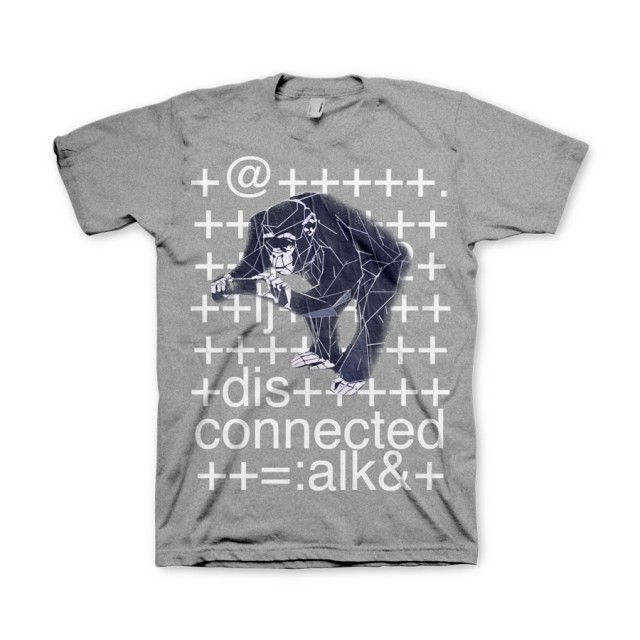 T-Shirt Watch Dogs - Monkey [grau, S]