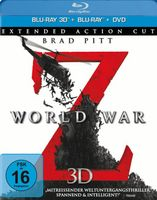 World War Z (Blu-ray 3D, + Blu-ray 2D, + DVD, Extended Action Cut)
