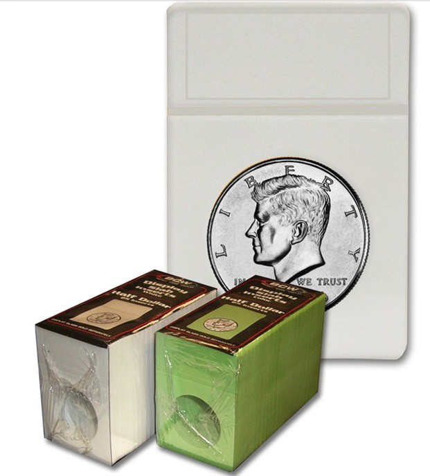 BCW Display Slab Insers white - Half Dollar (25ct)