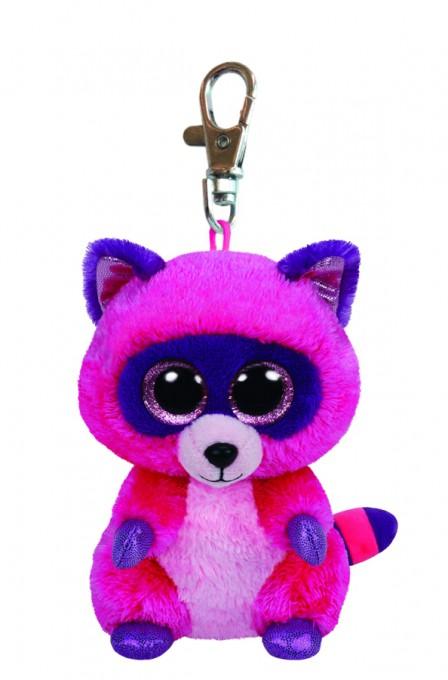 Roxie Clip - Waschbär pink/lila, 8.5cm