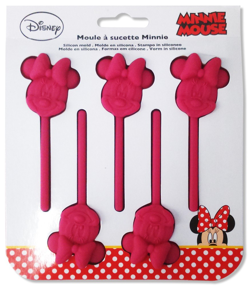 Minnie Maus Silikon Lollipopform
