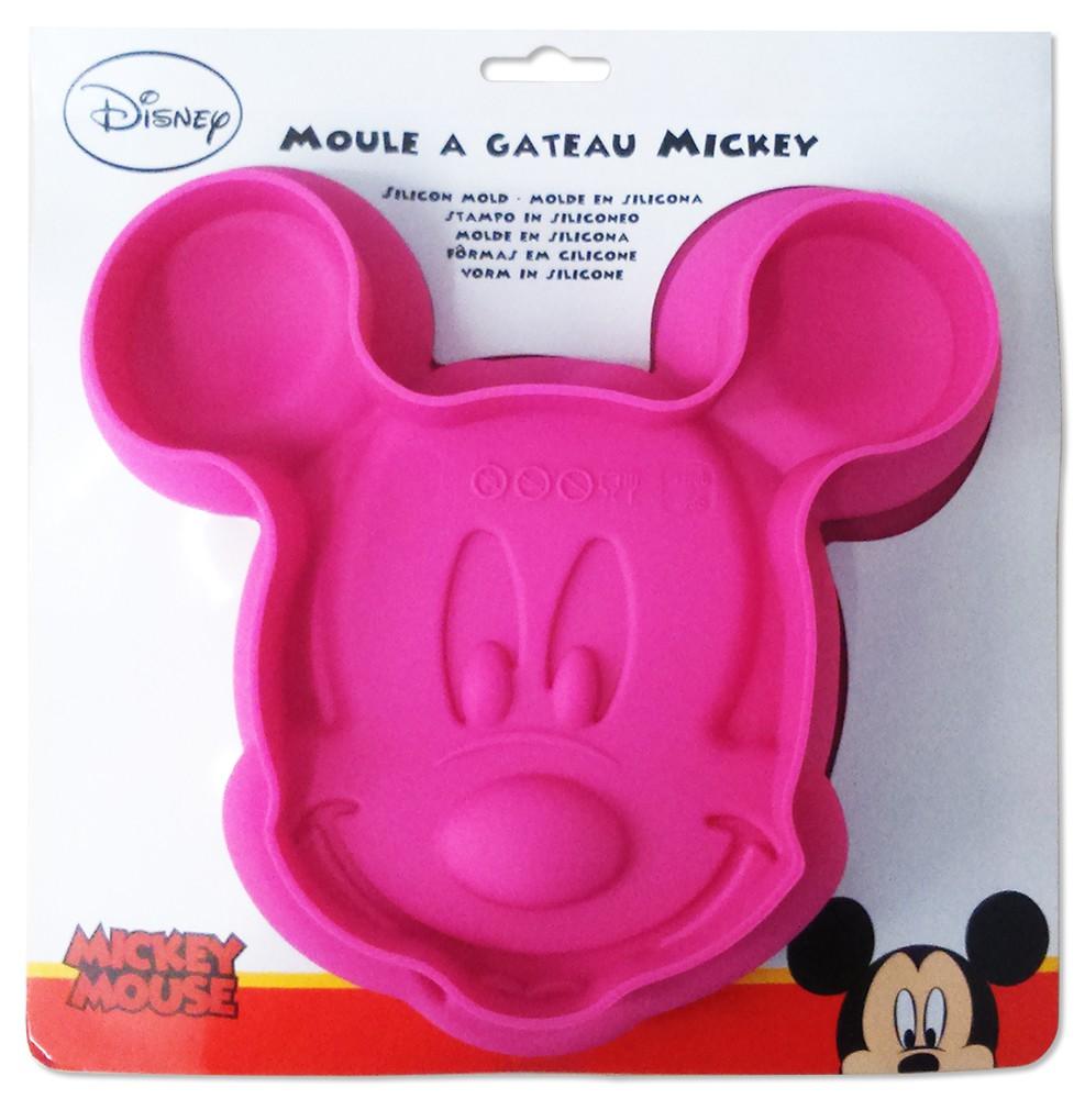 Micky Maus Silikonbackform [pink, Ø 25 cm]