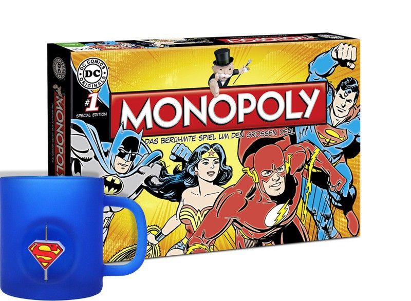 Monopoly: DC Originals + Superman Tasse 3D Rotating Logo