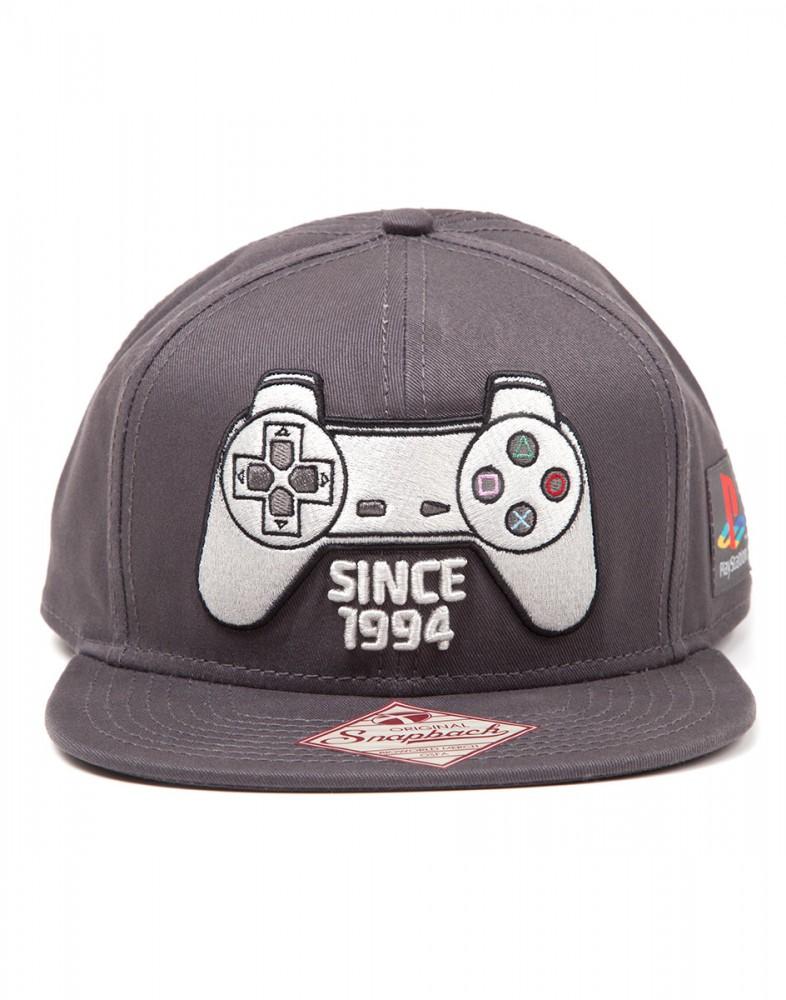 Playstation 1 Controller SnapBack Kappe grau