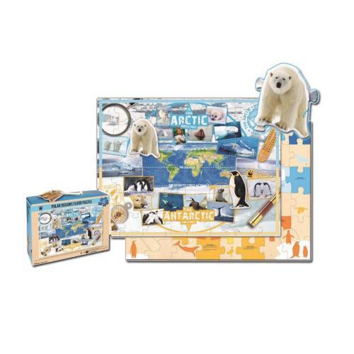 WWF Kinderpuzzle Polarregionen (48 Teile)