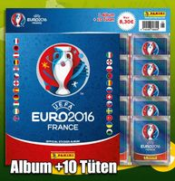 Euro 2016 France Sticker Starter-Set mit Album und 10 Tüten
