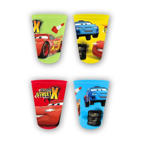 Cars Trinkbecher 4er Set [Kunststoff]