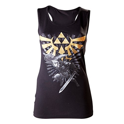 The Legend of Zelda Triforce Link Girl-Top schwarz XL