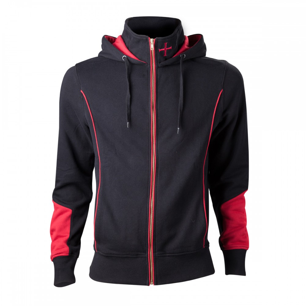 Assassin's Creed Rogue Hoodie -M- , schwarz/rot – Bild 1