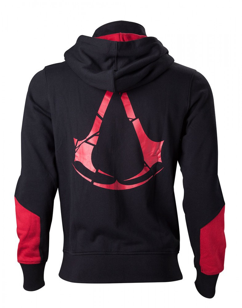Assassin's Creed Rogue Hoodie -L- , schwarz/rot – Bild 2