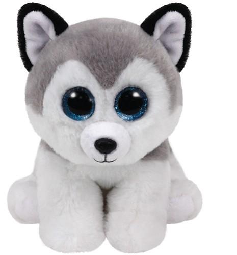 Beanie Babies - Buff - Husky mit Glitzeraugen, Beanie Classic, 15 cm