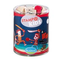 Aladine 3003327 - Stampo Kids Piraten, 16-teilig