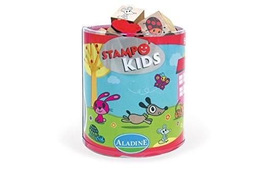 Aladine 3003305 - Stampo Kids Lieblingstiere, 16-teilig