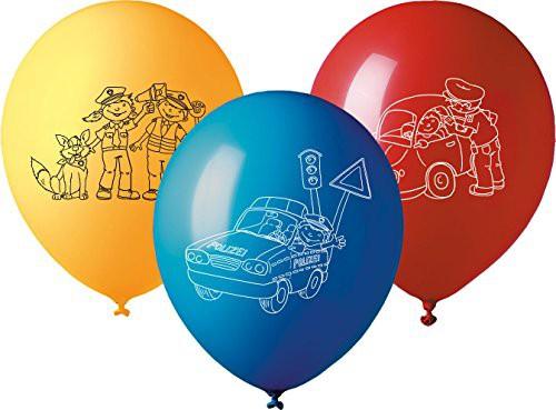 5 Luftballons * POLIZEI * für Mottoparty und Kindergeburtstag
