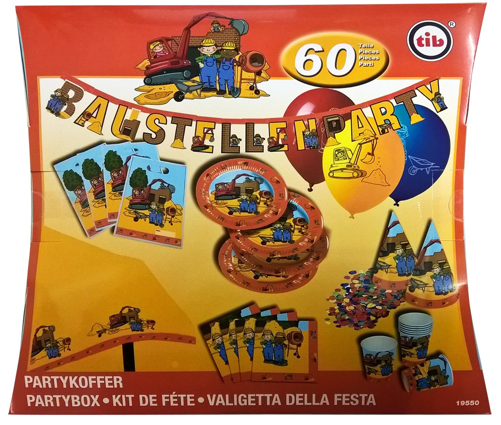 Party-Set Baustelle 60-teilig
