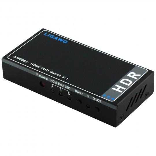 Ligawo 3090063 HDR HDMI Switch 3x1 - automatisch – Bild 1