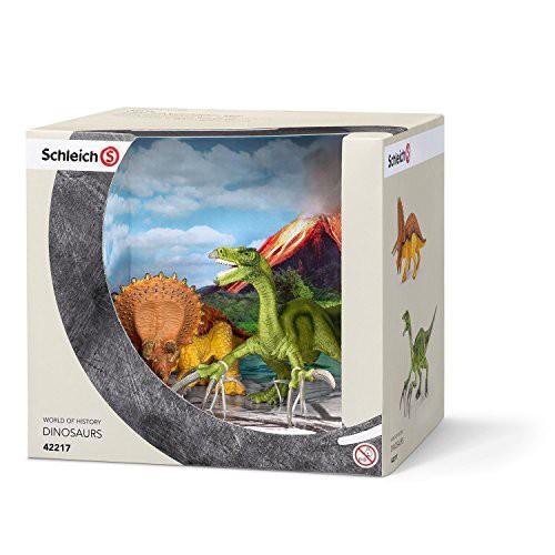 Schleich 42217 - Spielzeugfigur - Triceratops und Therizinosaurus