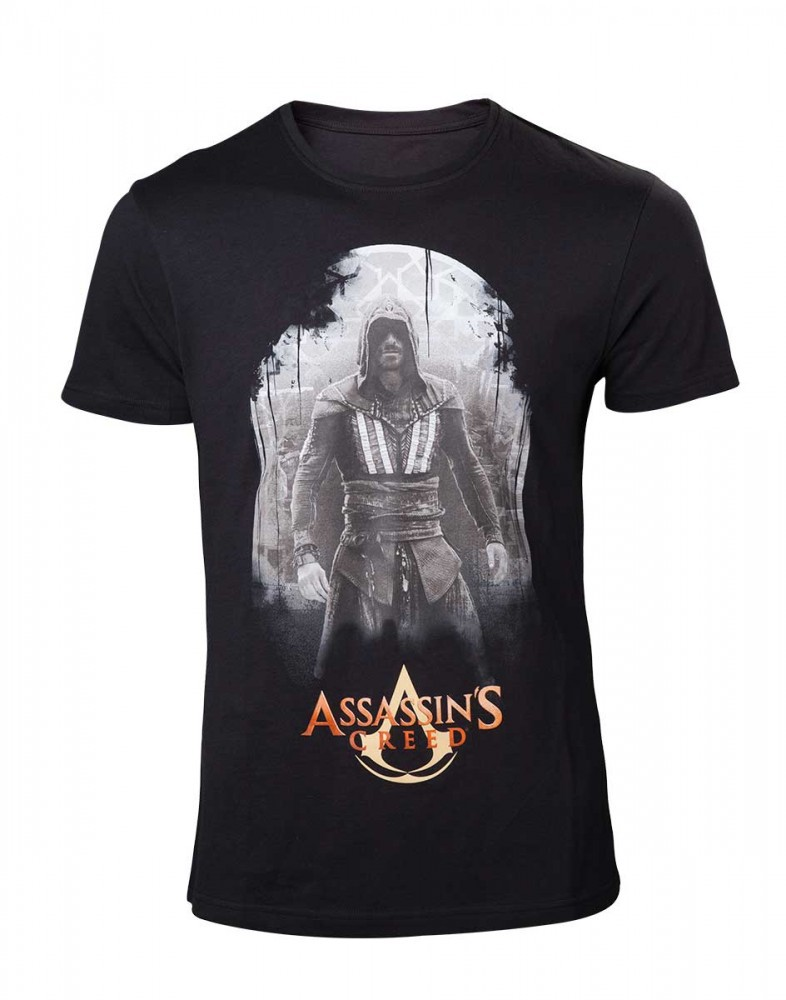 Assassins Creed Movie Mens T-Shirt Aguilar on Black L