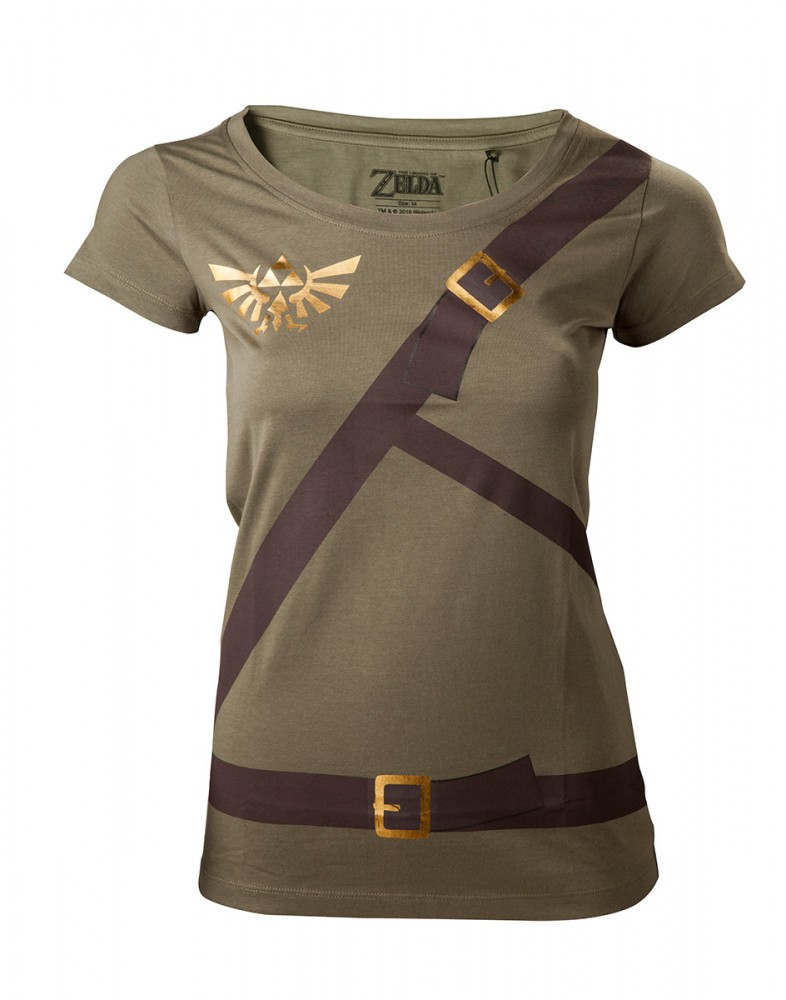 The Legend of Zelda Link Belt Girl-Shirt oliv, XS