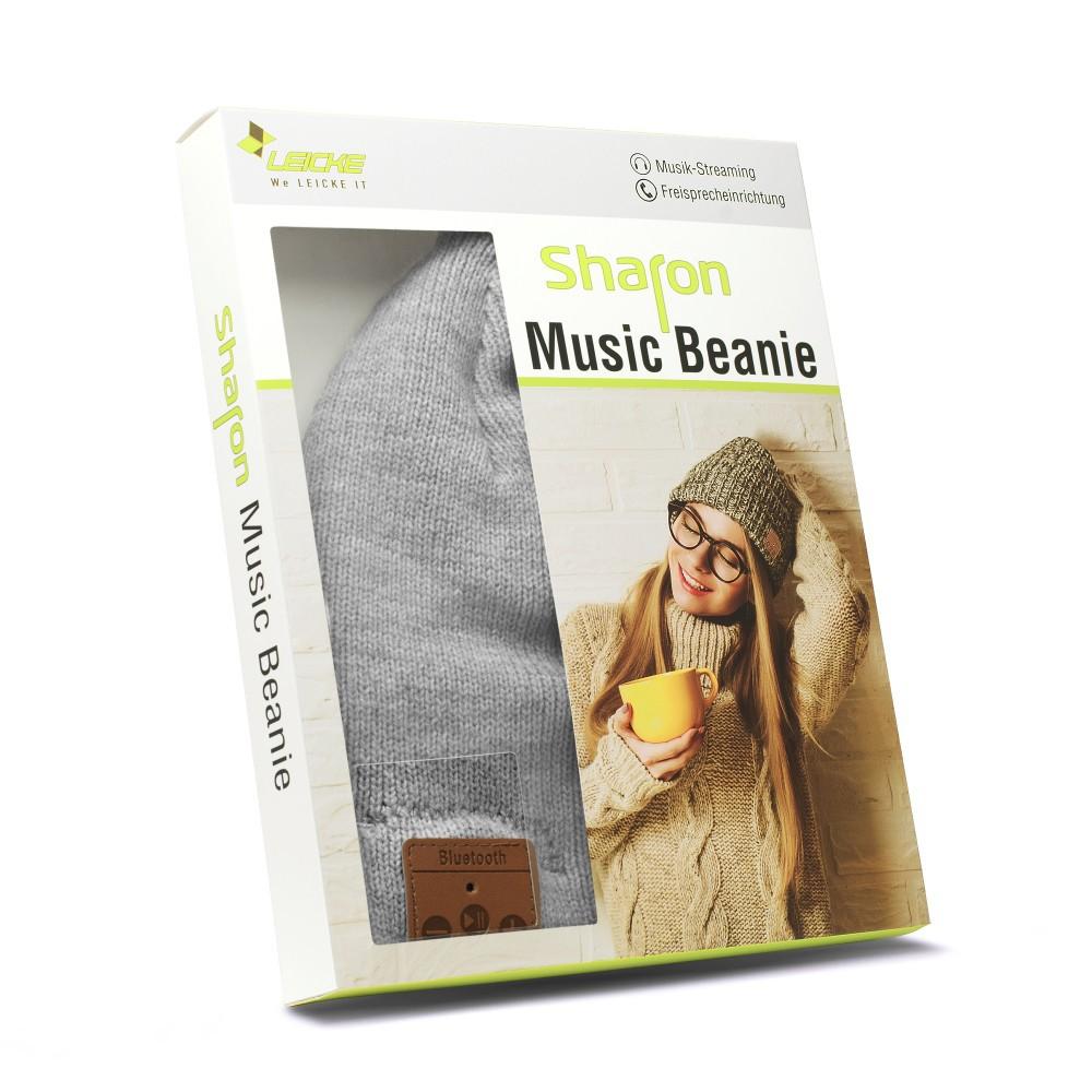 LEICKE Sharon Music Beanie mit Bluetooth hellgrau – Bild 3
