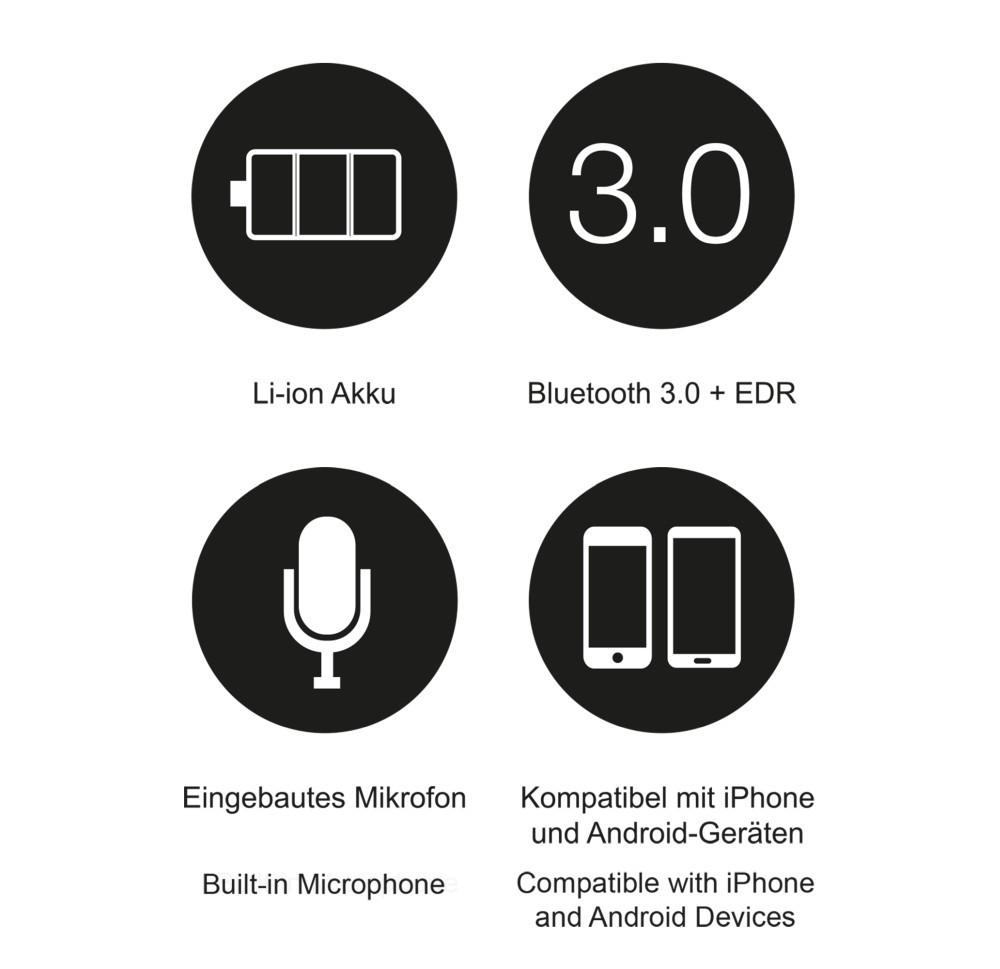 LEICKE Sharon Music Beanie mit Bluetooth hellgrau – Bild 4