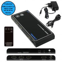 Ligawo 3080020 HDMI Switch 3x1 - 4Kx2K /60Hz HDMI 2.0 HDCP 2.2 HEVC – Bild 2