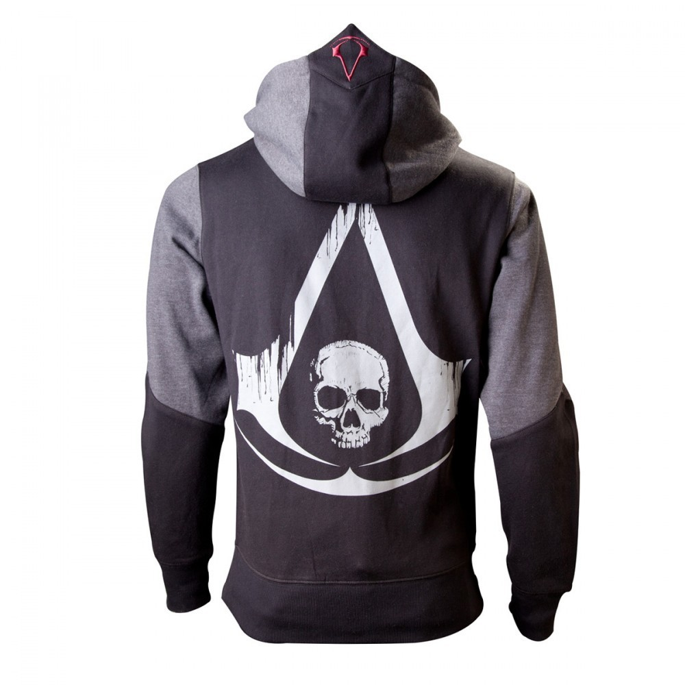 Assassins Creed 4 Hoodie XS Black Grey Character