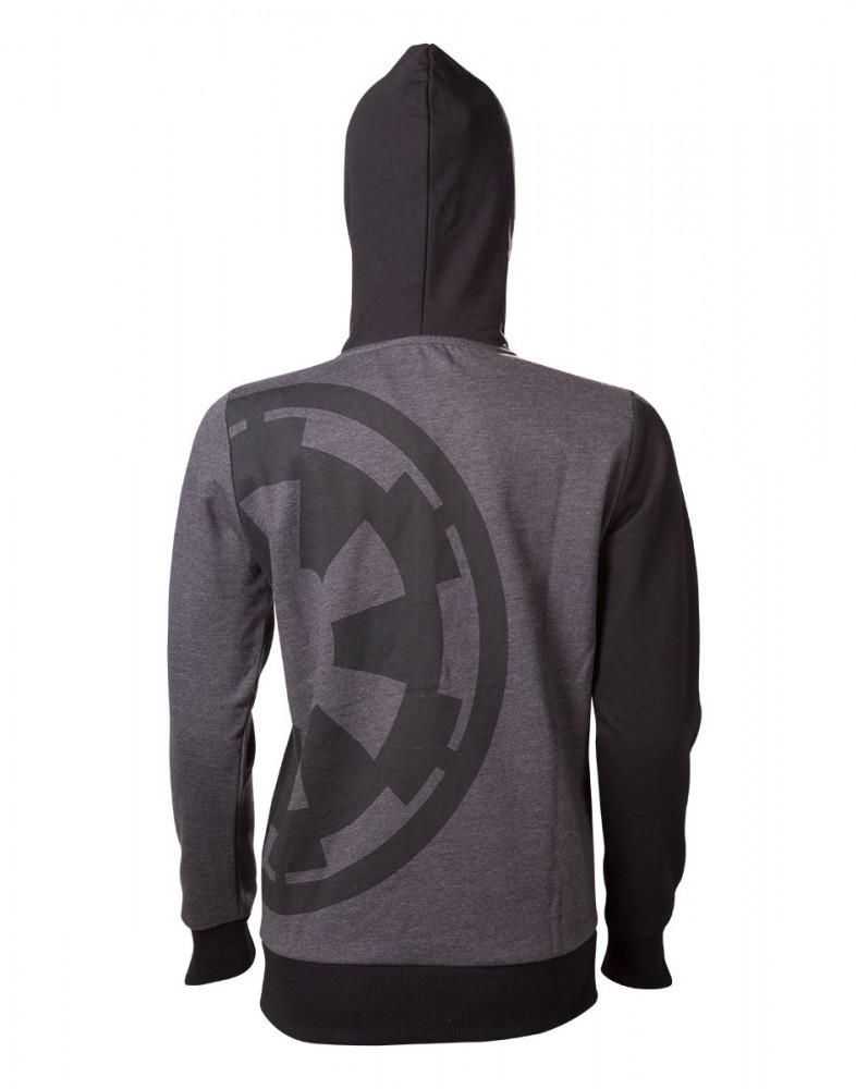Star Wars Rogue One - Empire Girl-Kapuzenjacke schwarz/grau meliert XL – Bild 2