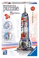 Ravensburger 12583 - Flag Edition Empire State Building - 3D Puzzle-Bauwerke, 216 Teile