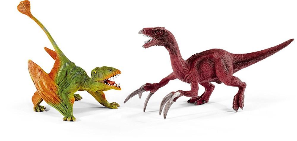 SCHLEICH - Dinosaurs, Dimorphodon & Therizinosauru
