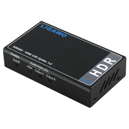 Ligawo 3090060 HDR HDMI Splitter 1x2 – Bild 1
