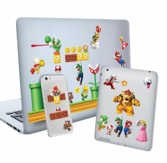 Super Mario Vinyl Sticker Set Level