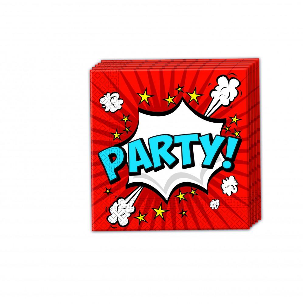 Boom Party 2-lagige Papierservietten 33x33cm