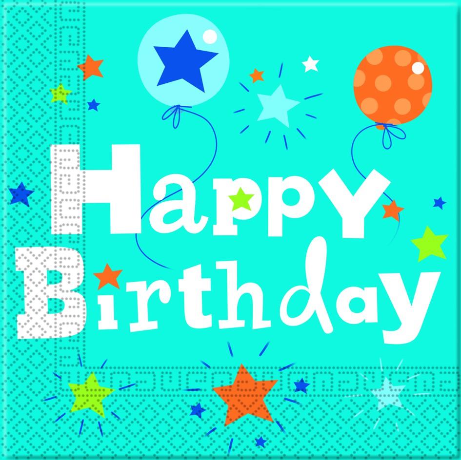 Happy Birthday Junge 2-lagige Papier Servietten 33x33cm