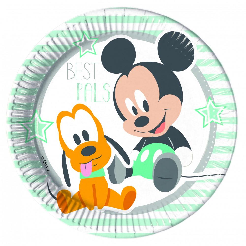 Baby Mickey & Donald Pappteller Groß 23cm