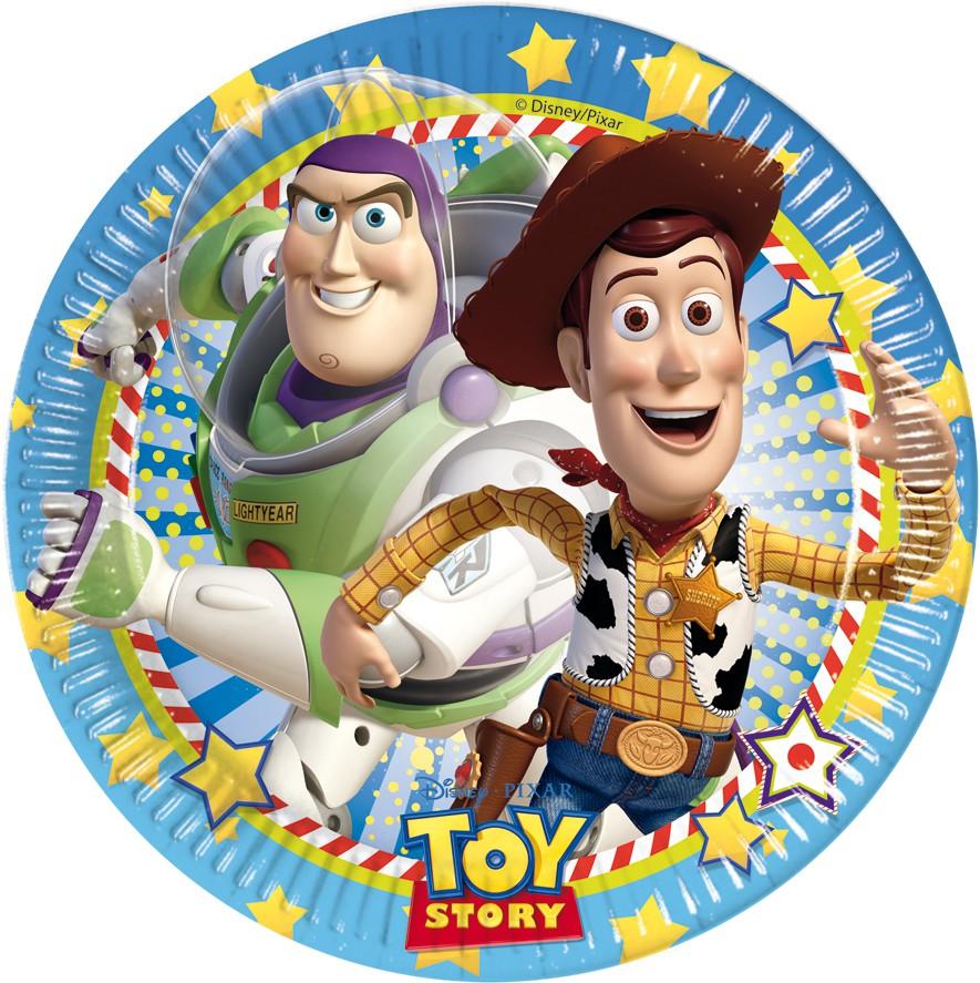Toy Story Star Power Pappteller Groß 23cm