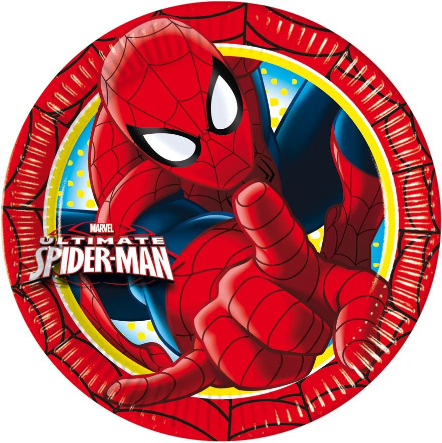 Ultimate Spiderman Pappteller Groß 23cm