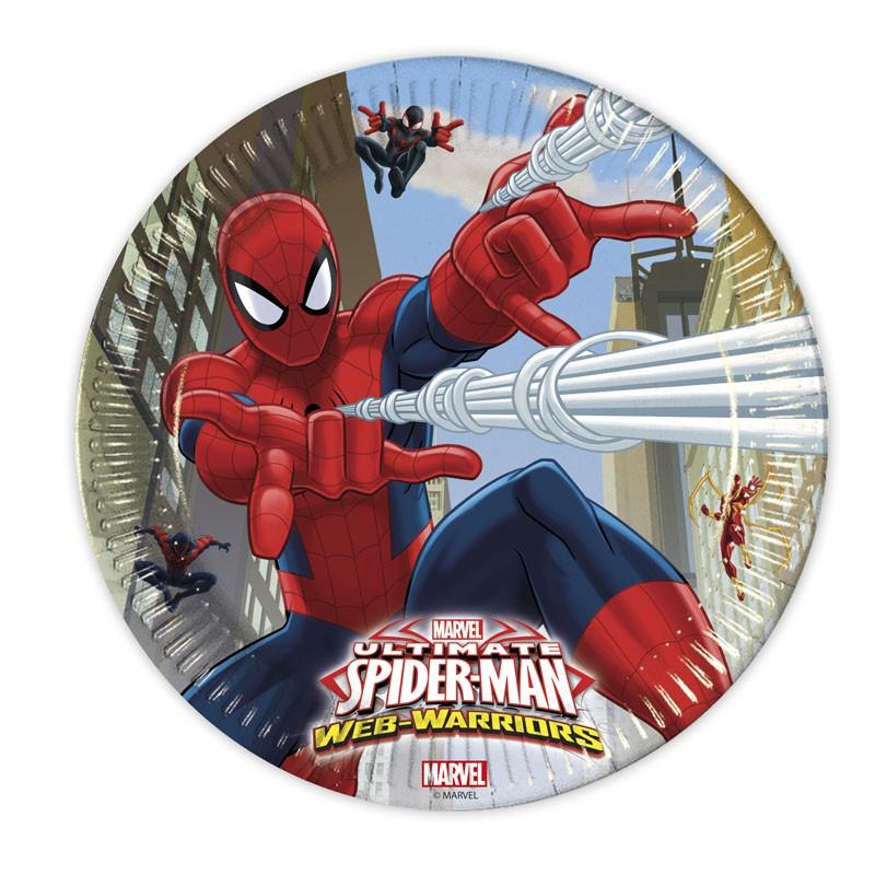 Ultimate Spiderman Web Warriors Pappteller Groß 23cm