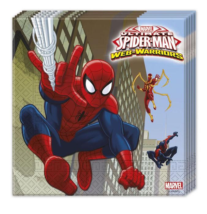 Ultimate Spiderman Web Warriors 2-lagige Papierservietten 33x33cm