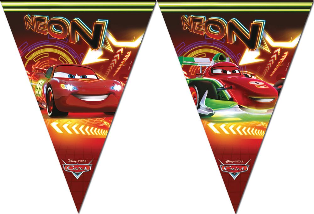 Cars Neon Triangle Flag banner ( 9 flags )