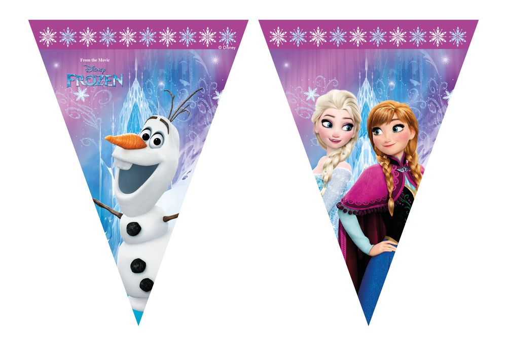 FROZEN NORTHERN LIGHTS Triangle Flag Banner (9 flags)