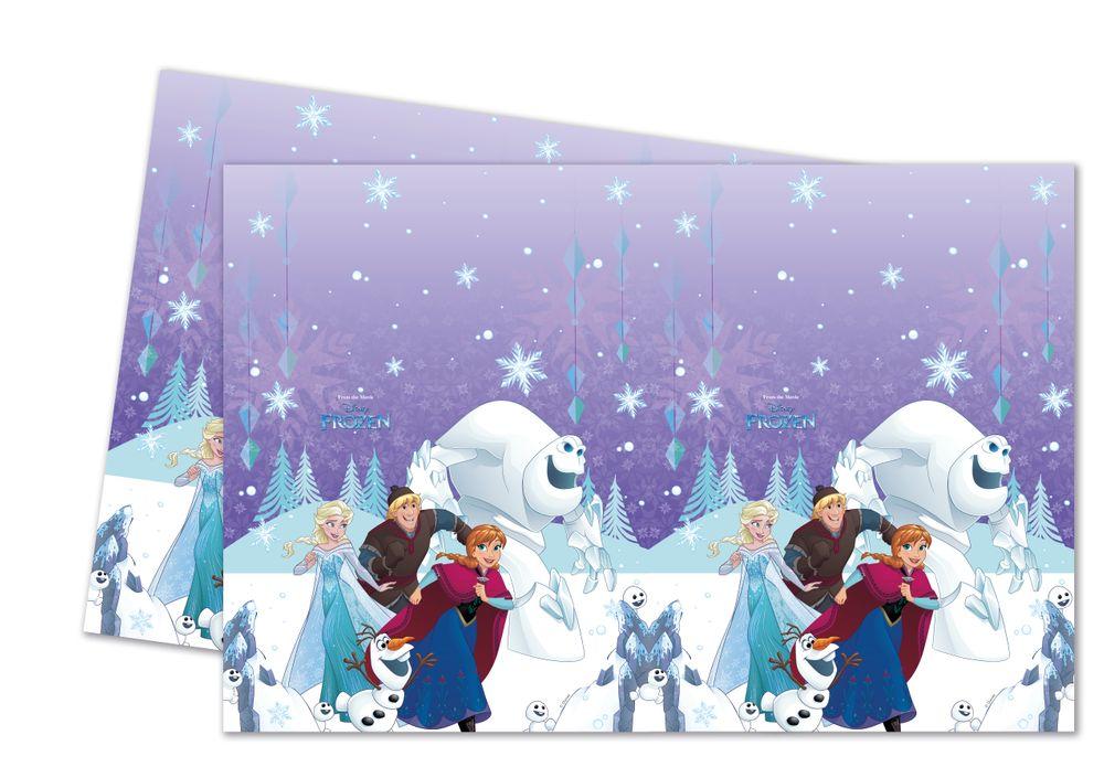 FROZEN SNOWFLAKES Plastik Tischdecke 120x180cm