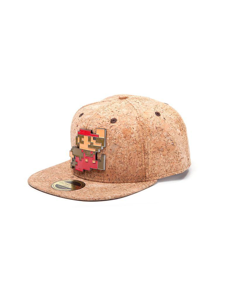 Nintendo - Super Mario Metal Pixel Logo Cork Snapback