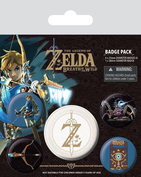 The Legend of Zelda Breath Of The Wild - Z Emblem Button-Pack