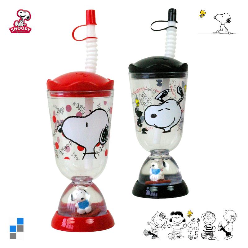 Trinkbecher Snoopy mit Strohhalm, Schneekugel mit Figur