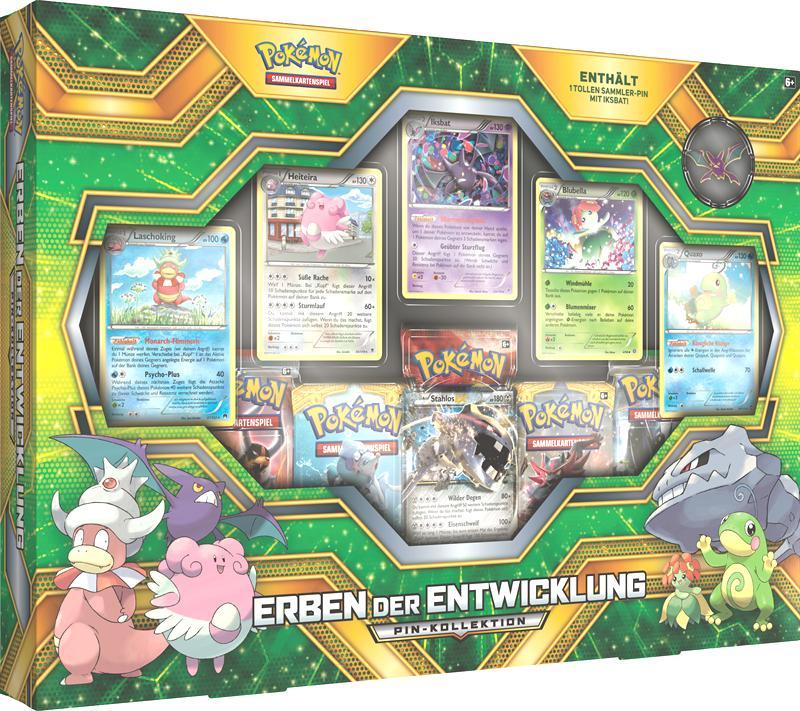 Pokemon Cards Erben der Entwicklung Pin-Kollektion