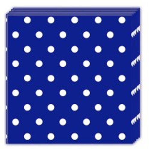 Servietten Blue Royal Dots 20 Stk