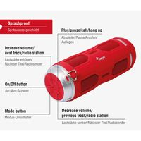 "Sharon Outdoor Bluetooth Alexa Lautprecher ""DJ Roxxx Active"" Rot – Bild 3"