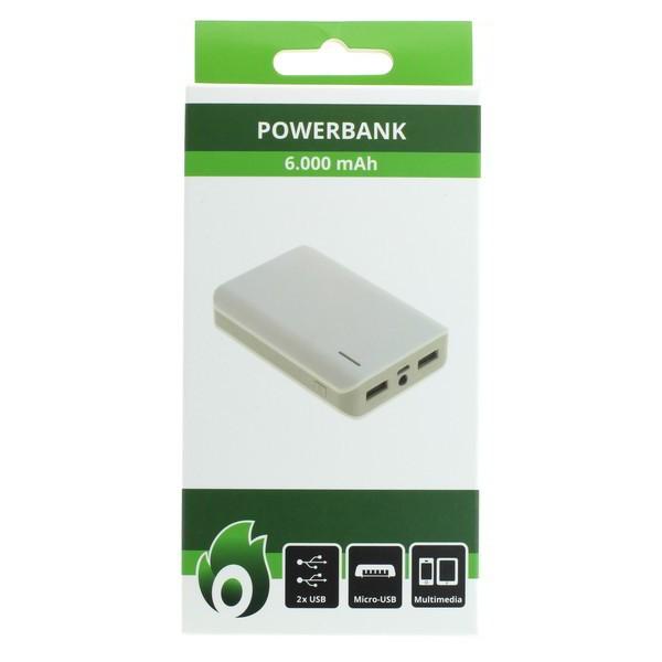 OTB Powerbank OTB-PB61 - externer Akkupack mit 6000mAh - Li-Ion - weiß – Bild 4
